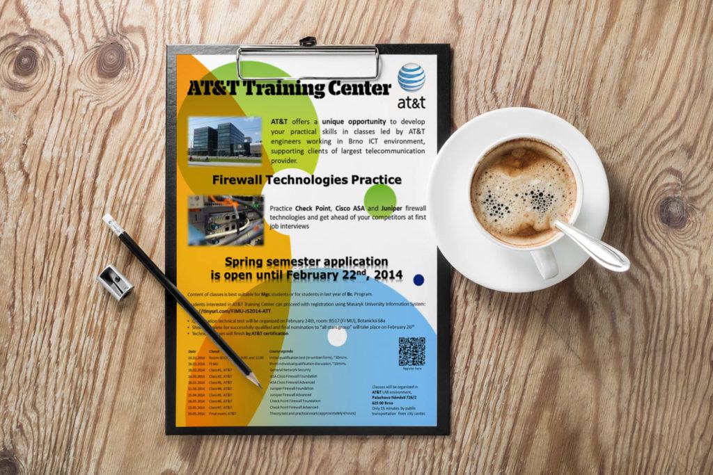 Adatto.cz, grafika pro letáky - AT&T Training Center