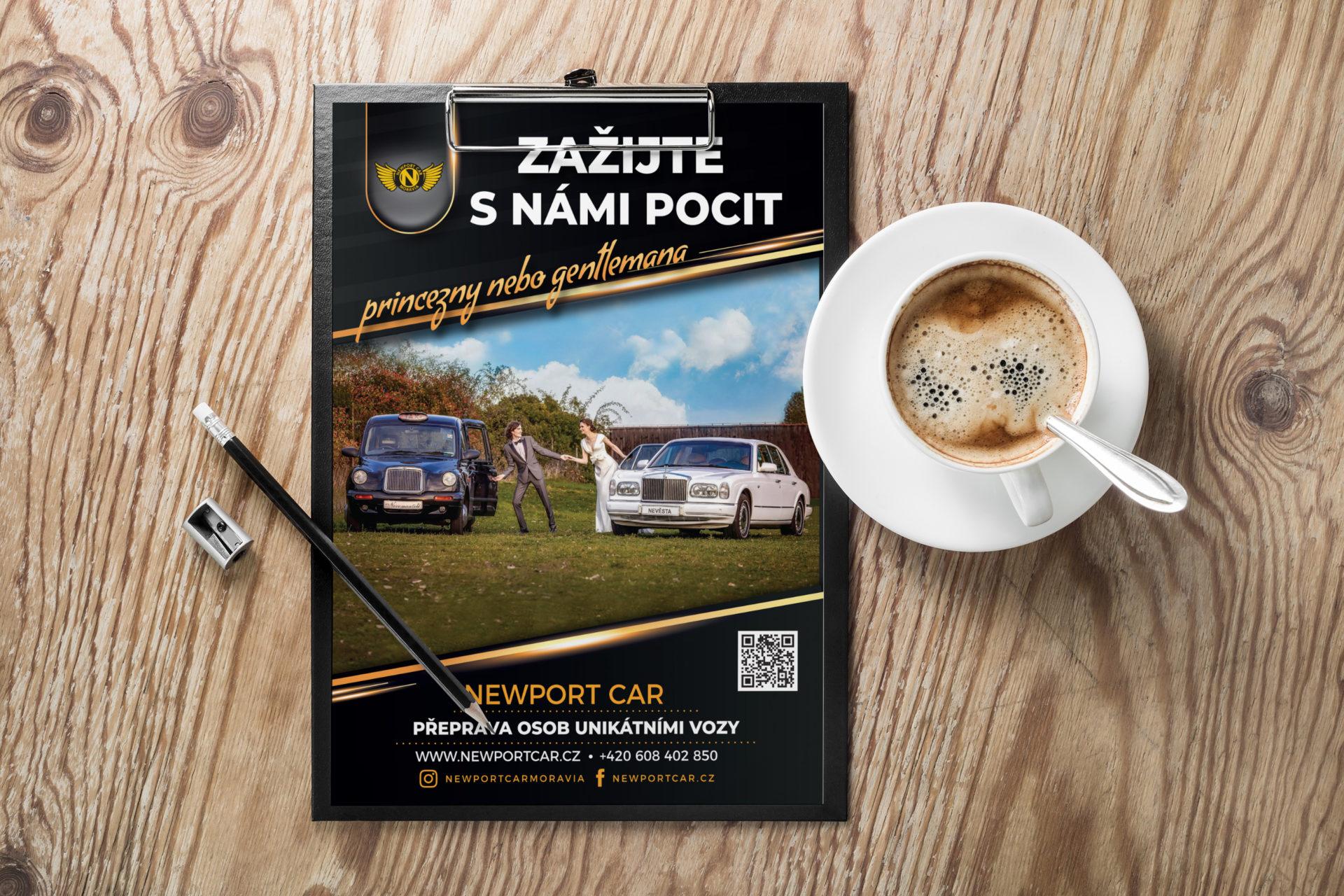 Adatto.cz, grafika pro letáky - Newportcar