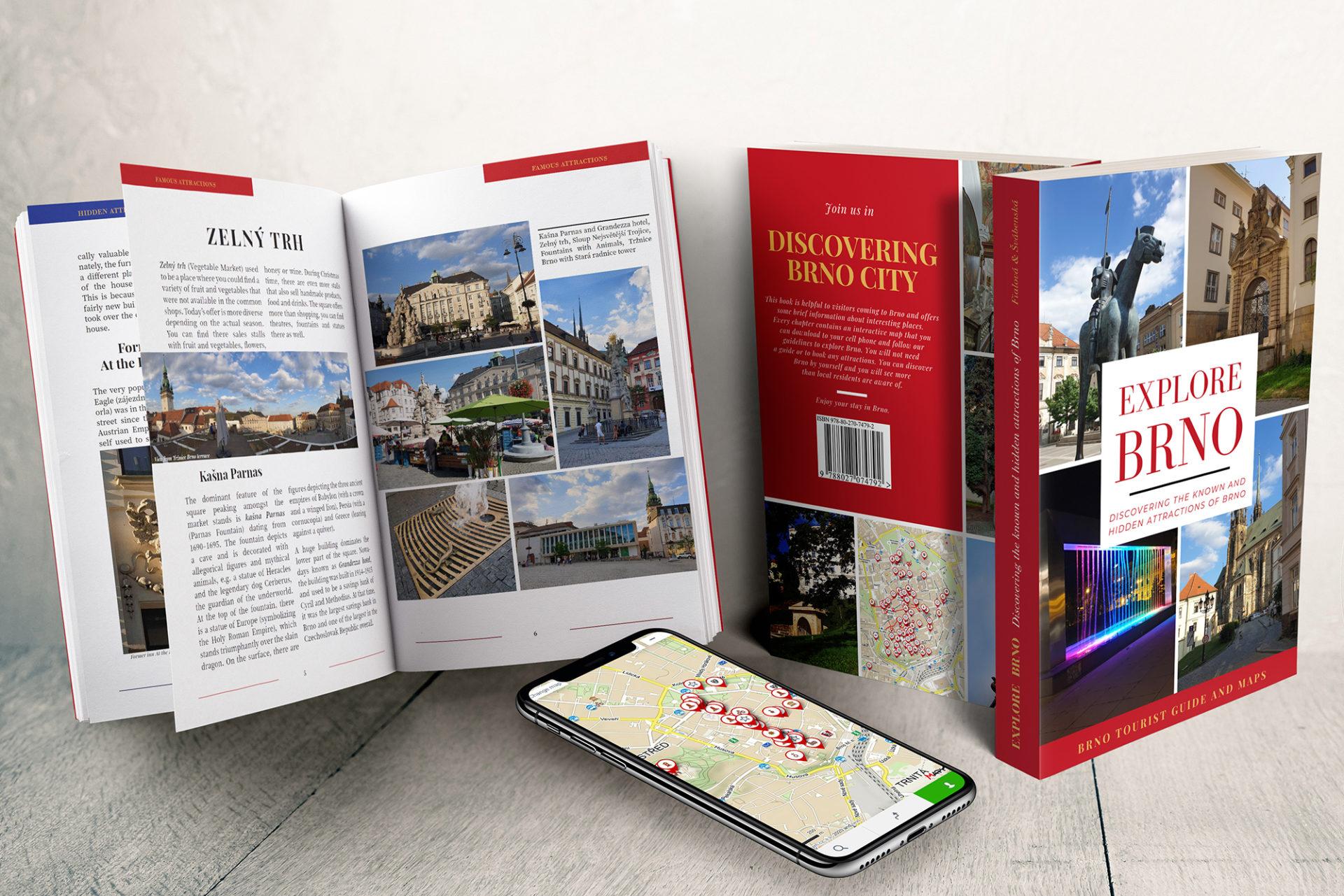 ADATTO.CZ, propagační mockup Explore Brno - Travel Guide & Maps